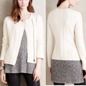 Anthropologie Angel of the North Zip Sweater Large